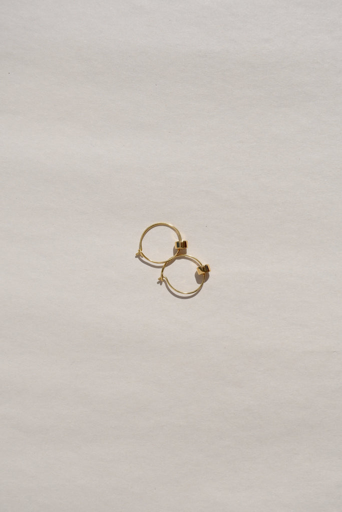 GOLD ROCHA MINI HOOP EARRINGS