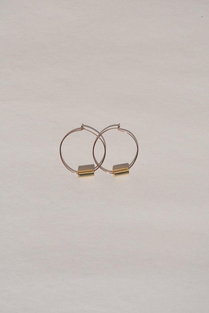 ROSE GOLD MIX MAIA HOOP EARRINGS