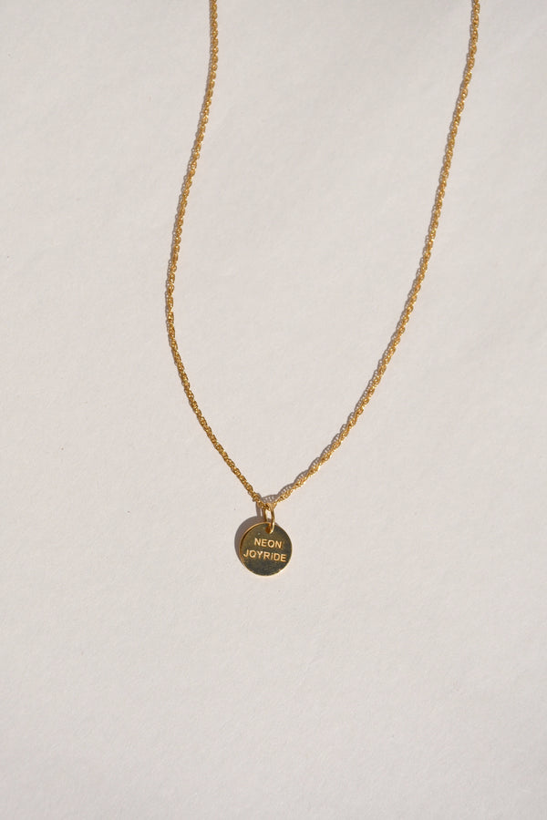 GOLD JOYRIDE MEDALLION NECKLACE