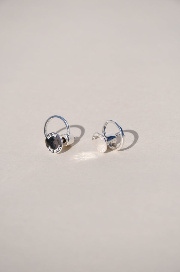 SILVER JOYRIDE HALO EARRINGS