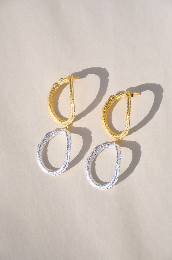 BROKEN CIRCLE DROP EARRINGS