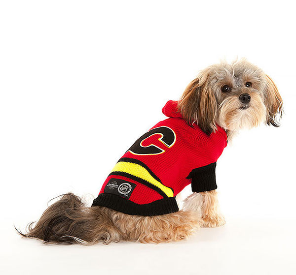Calgary Flames NHL Hooded Dog Sweater