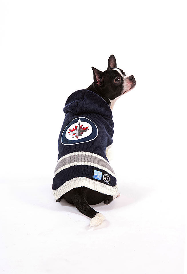 Winnipeg Jets NHL Hooded Dog Sweater