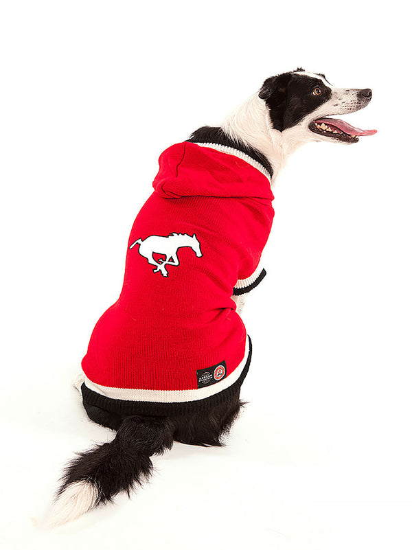 Calgary Stampeders CFL Hooded Dog Sweater