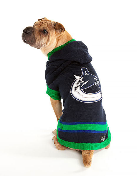 Vancouver Canucks NHL Hooded Dog Sweater