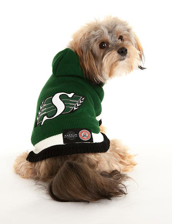 Saskatchewan Roughriders CFL Hooded Dog Sweater