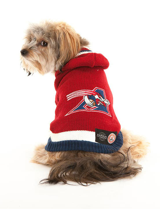 Montreal Alouettes CFL Hooded Dog Sweater