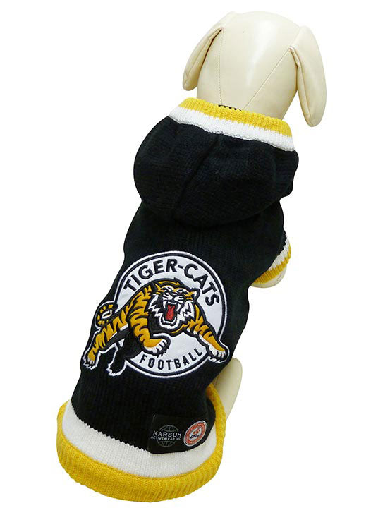 Hamilton Tiger-Cats CFL Hooded Dog Sweater