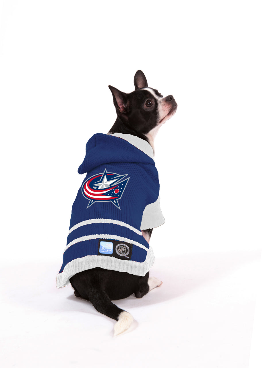 Columbus Blue Jackets NHL Hooded Dog Sweater