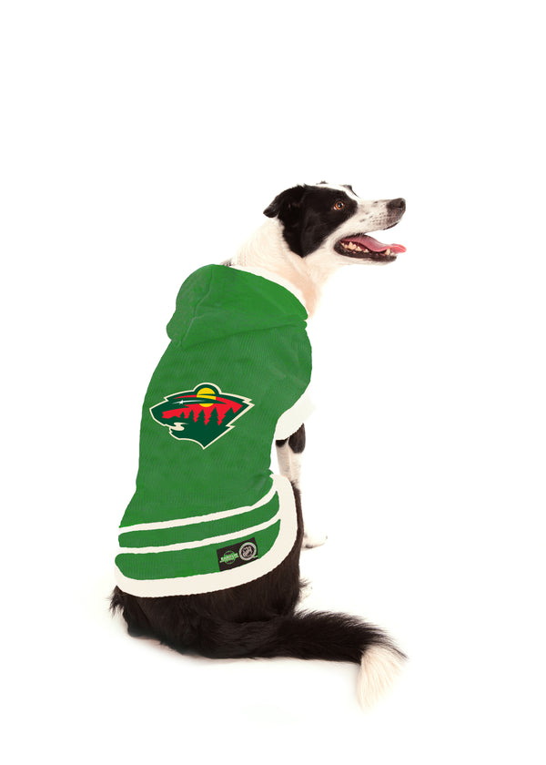 Minnesota Wild NHL Hooded Dog Sweater