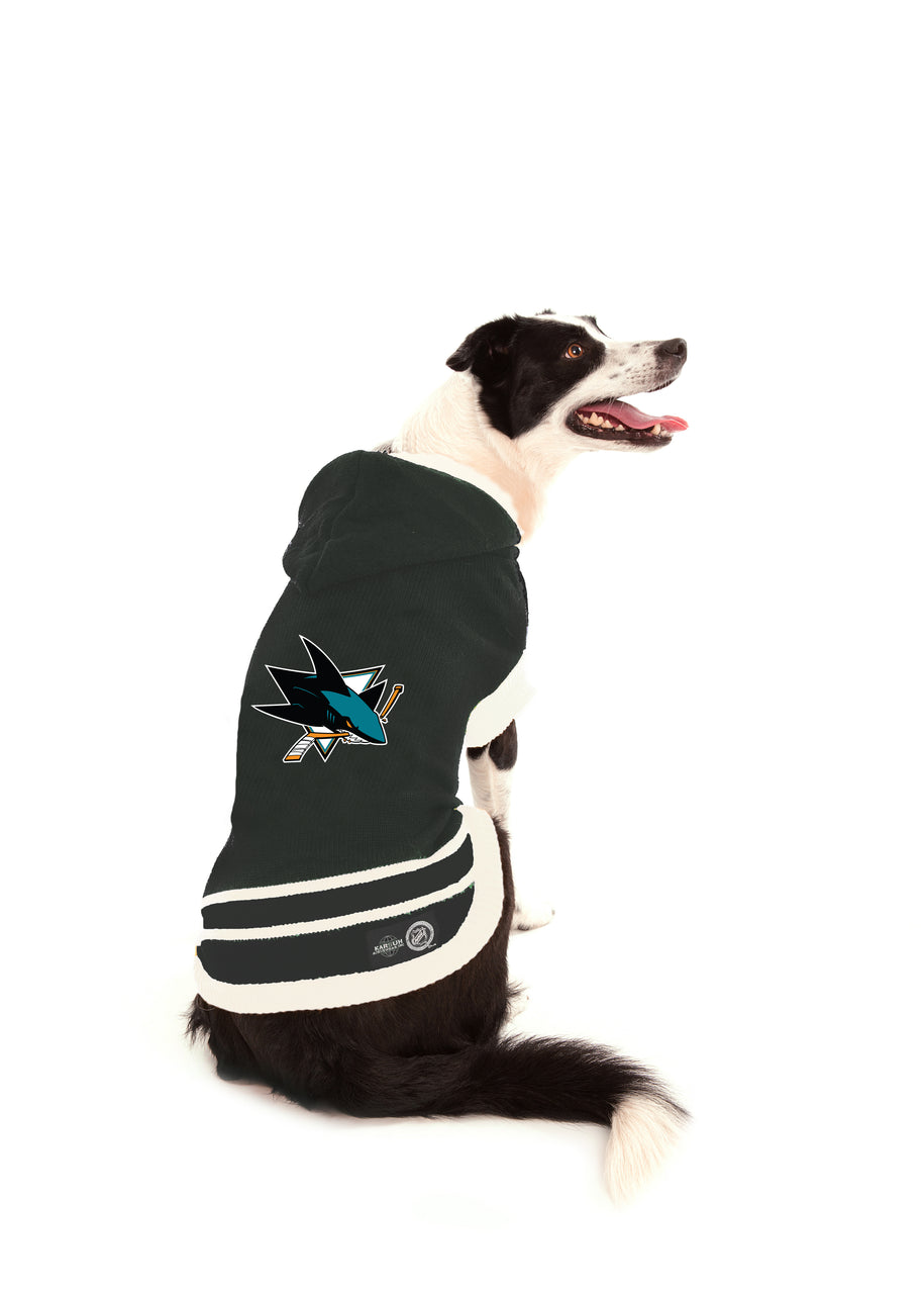 San Jose Sharks Nhl Dog Sweater with hood