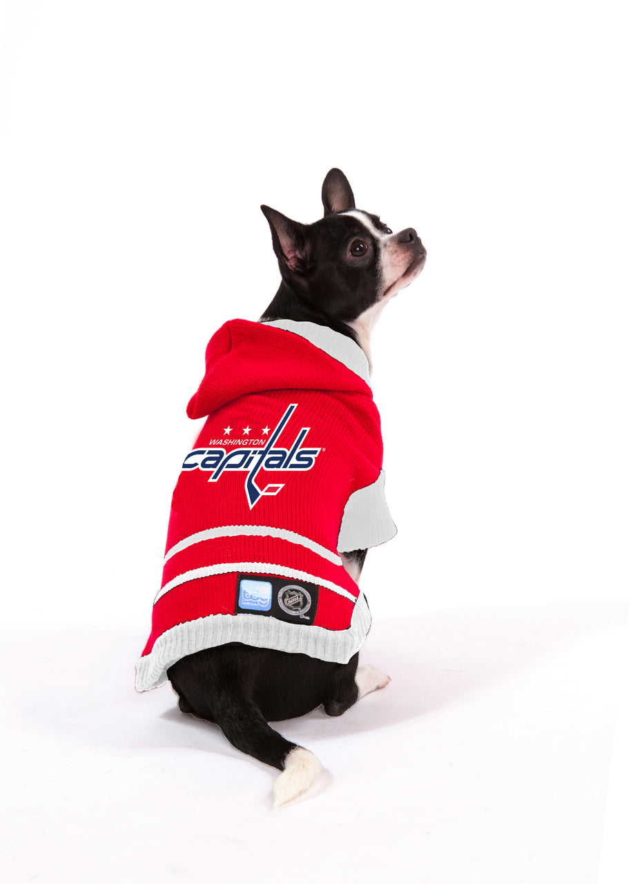 Washington Capitals NHL Hooded Dog Sweater