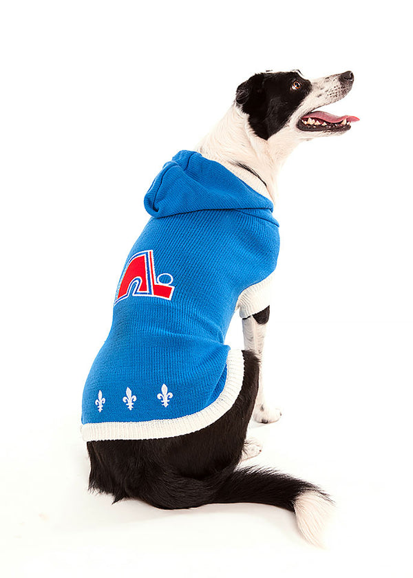 Quebec Nordiques NHL Hooded Dog Sweater