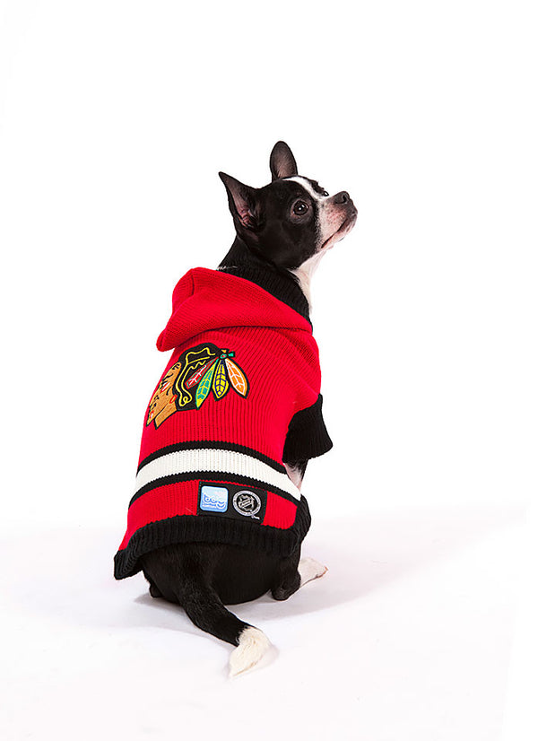Chicago Blackhawks NHL Hooded Dog Sweater