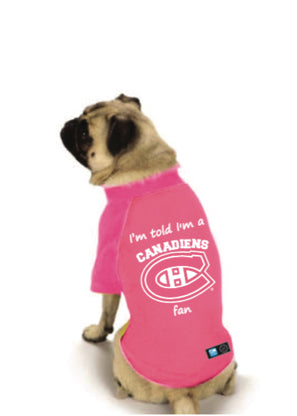 Montreal Canadiens NHL Dog Fan Shirt-Pink