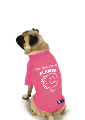 Calgary Flames NHL Dog Fan Shirt-Pink