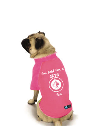Winnipeg Jets NHL Dog Fan Shirt-Pink