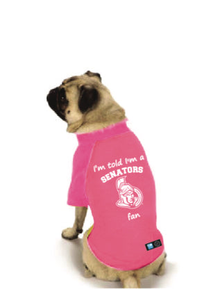 Ottawa Senators NHL Dog  Fan Shirt-Pink