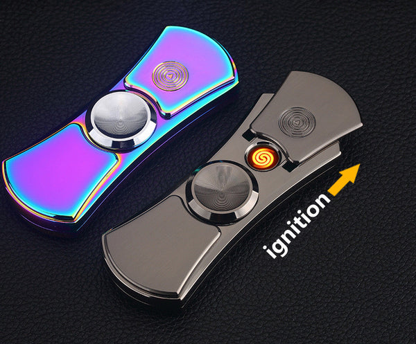 LED Hand Spinner Rechargeable Lighter