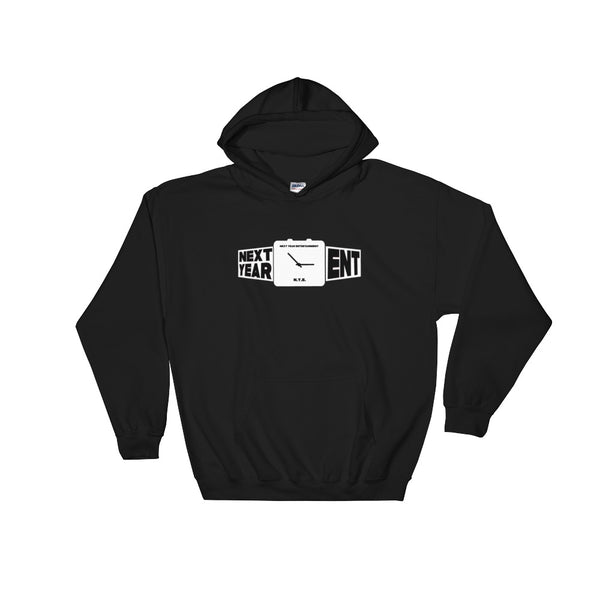 Next Year Entertainment White Logo Hoodie