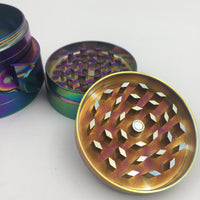 Iridescence 4 Layer Metal Herb Grinder