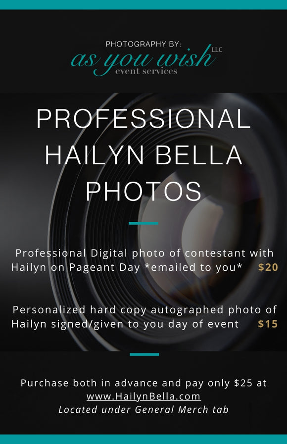 Professional Hailyn Bella Photos @ Heart of Gold Pageant *PreSale*