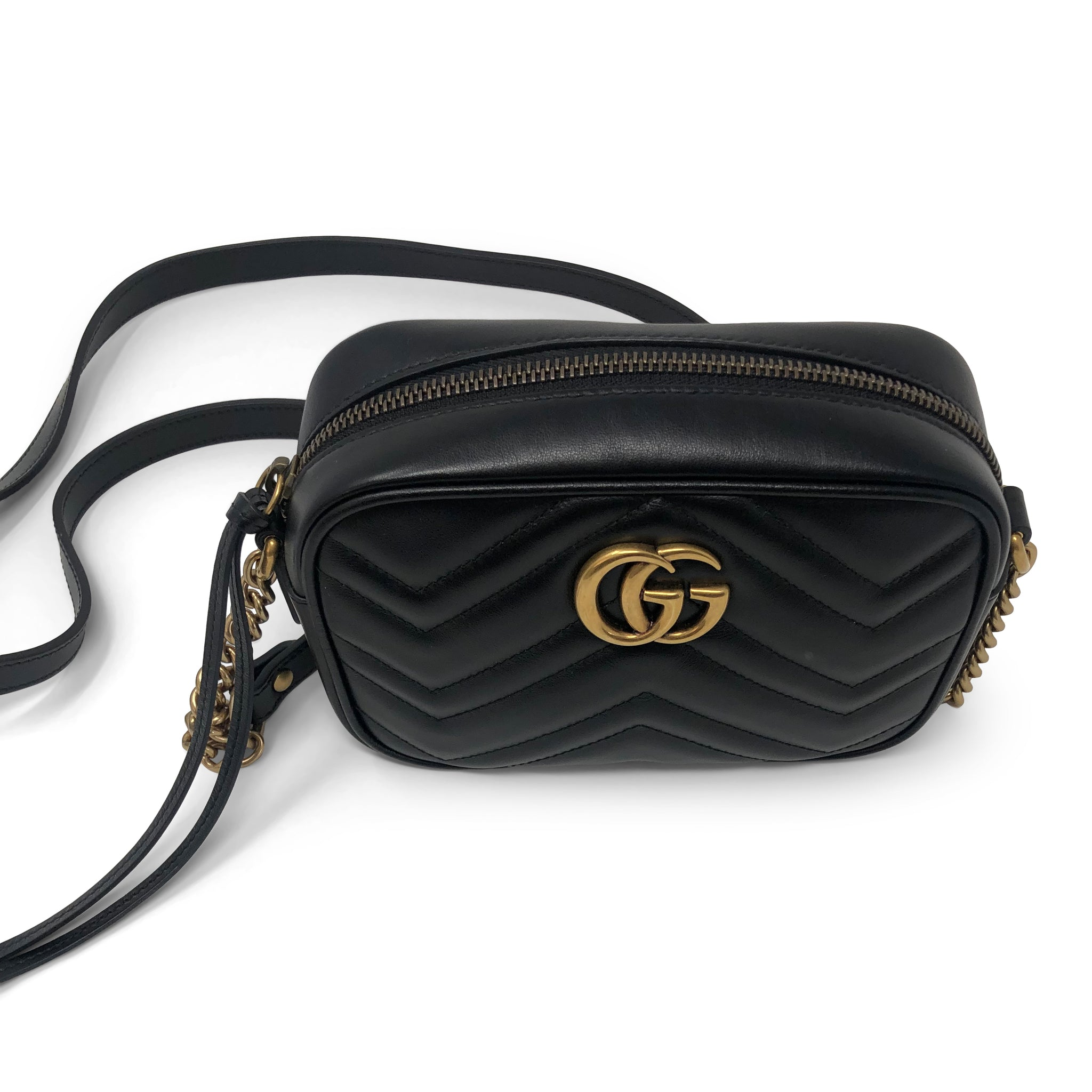 432c4e436 ... Load image into Gallery viewer, Gucci GG Marmont Matelassé Mini Camera  Bag ...