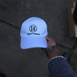 White Simplicity Distressed Cap