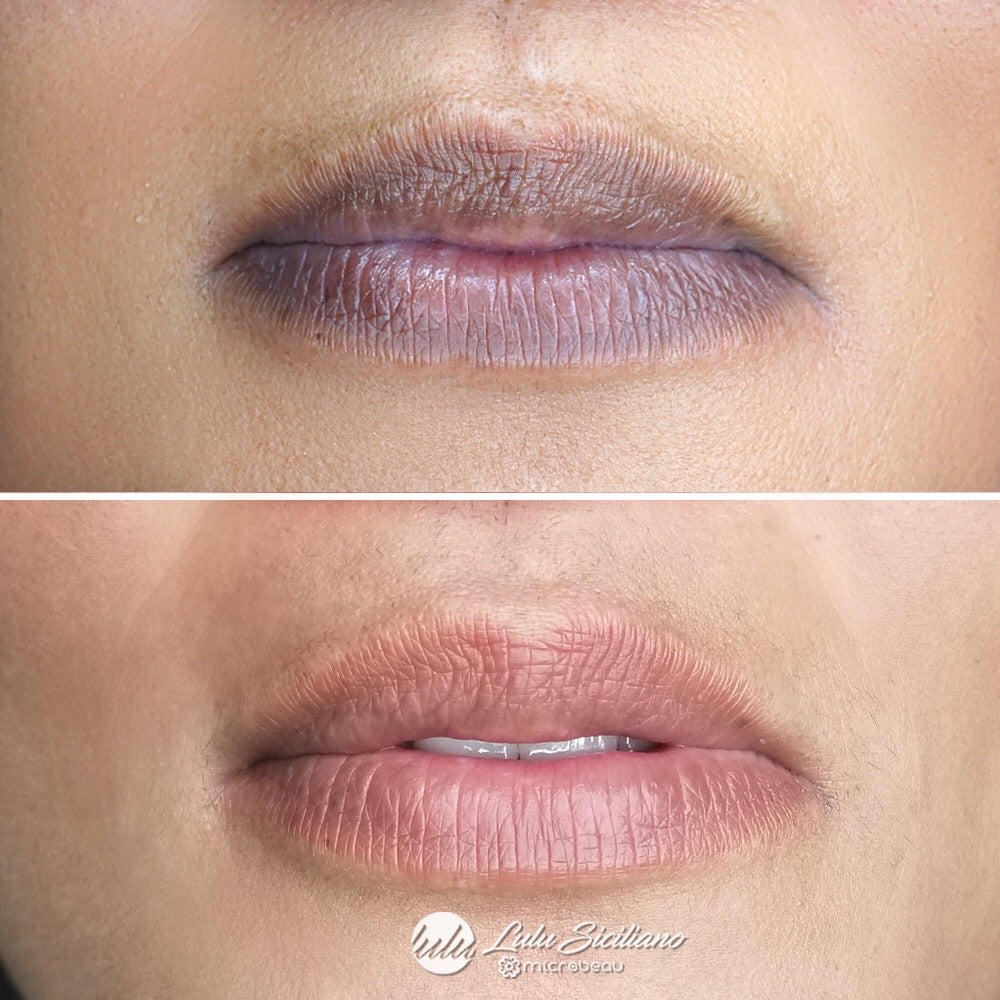 Lip Color correction in Aquarelle