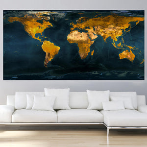 Vintage blue and gold world map oil painting the little shop vintage blue and gold world map oil painting the little shop gumiabroncs Gallery