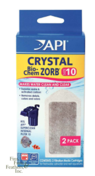 API Crystal Bio-Chem Zorb Cartridge for SuperClean 10 Internal Power Filter (2/pk)