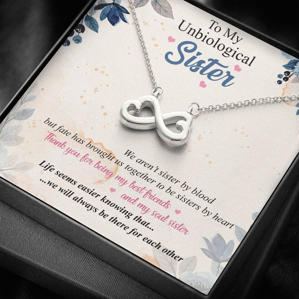 Un-biological Sister Infinity Necklace