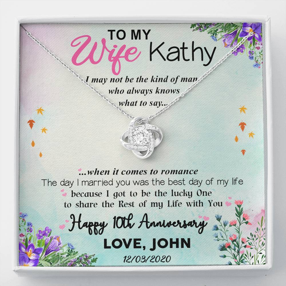 To My Wife Anniversary - Personalized Card