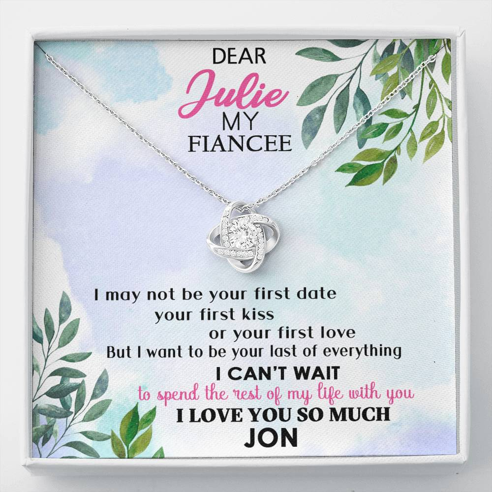 To My Fiancee Necklace Personalized