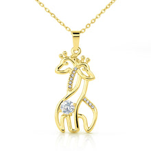 Load image into Gallery viewer, To My Daughter - Never Forget That I Love You Giraffe Necklace