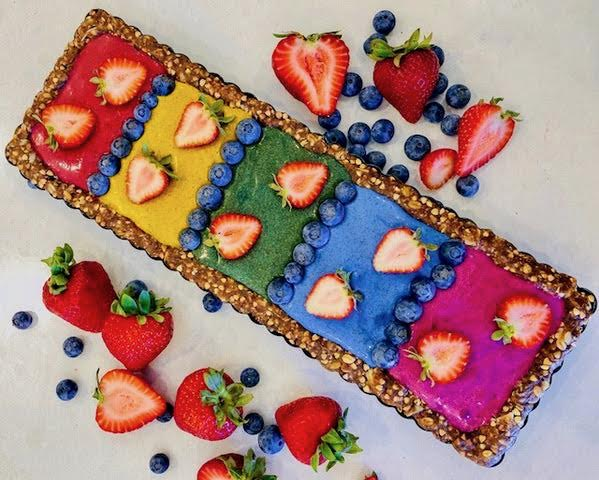 Rainbow Fruit Tart - Vegan/Raw