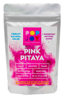 Pink Pitaya - POPJOY, blue spirulina, pink pitaya, activated charcoal, rainbow latte, vegan, vegan recipes