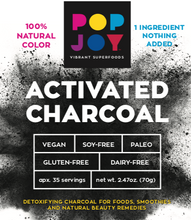 Activated Charcoal - POPJOY, blue spirulina, pink pitaya, activated charcoal, rainbow latte, vegan, vegan recipes
