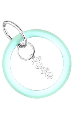 O ring silicone LOVE key rings