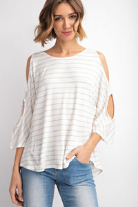 Off white w/ grey stripe top