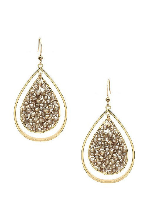 Double teardrop crystal earrings