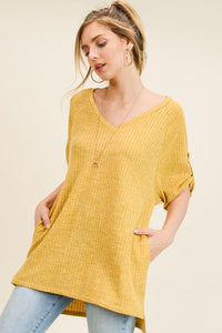 Mustard sweater tunic