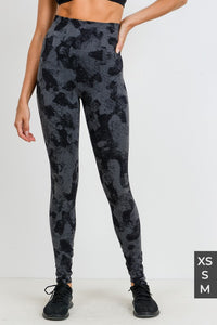 Seamless camo print leggings