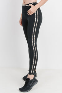 Striped leopard highwaist leggings