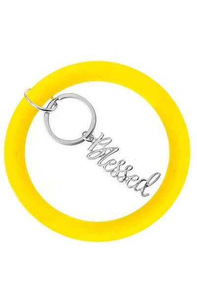 O ring silicon BLESSED key ring