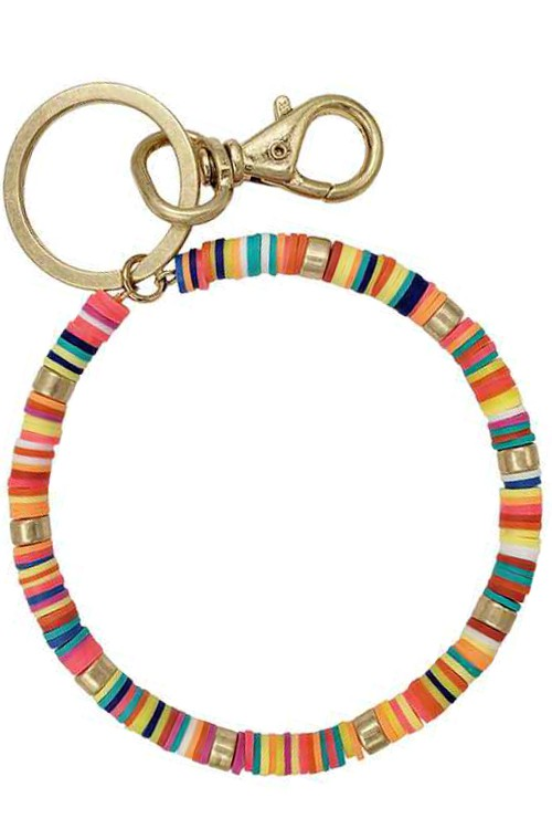 Multi color bangle keychain
