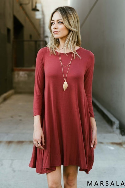 Burgundy knit dress
