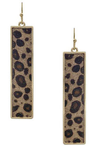 Bar leopard earrings