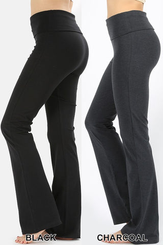 Fold over yoga pants