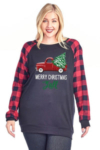 Merry Christmas y'all Plus size sweatshirt